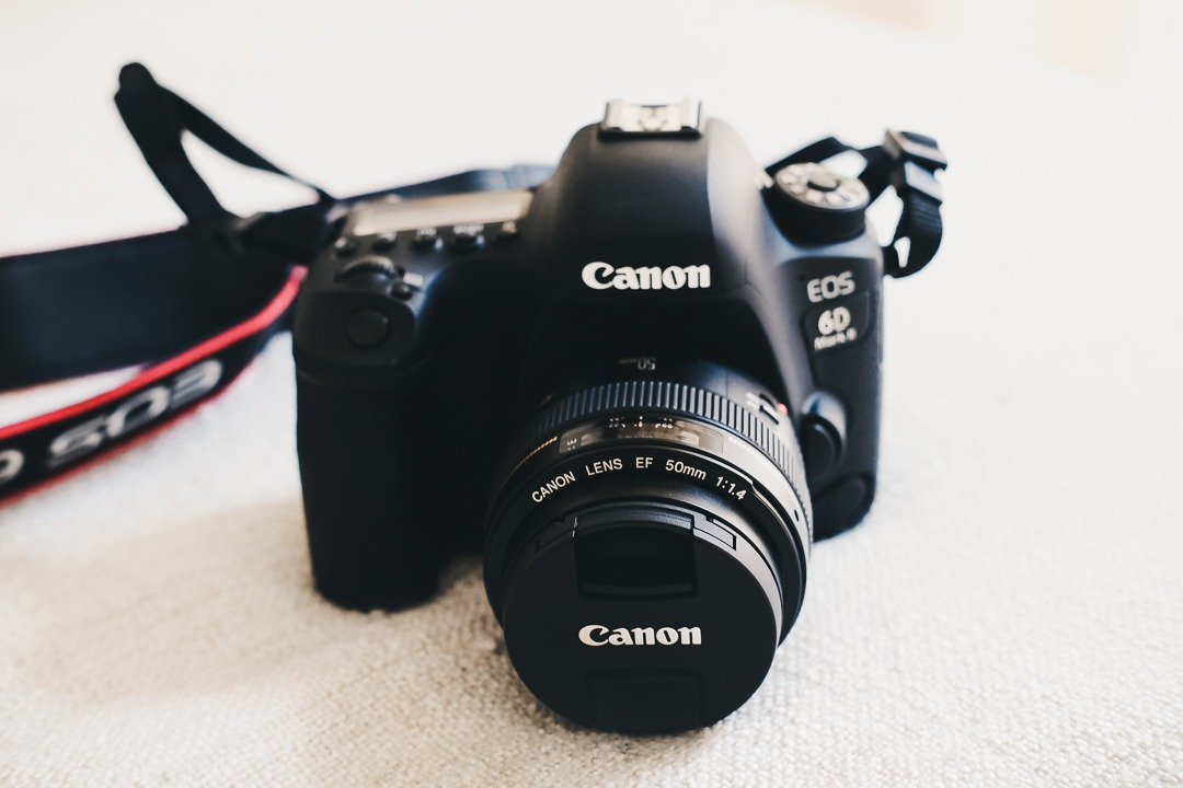 Canon 6D Mark II with Canon 50mm 1.4 photography gear