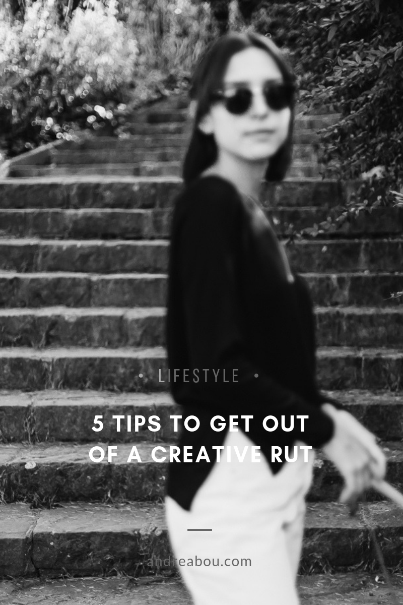 get out of a creative rut