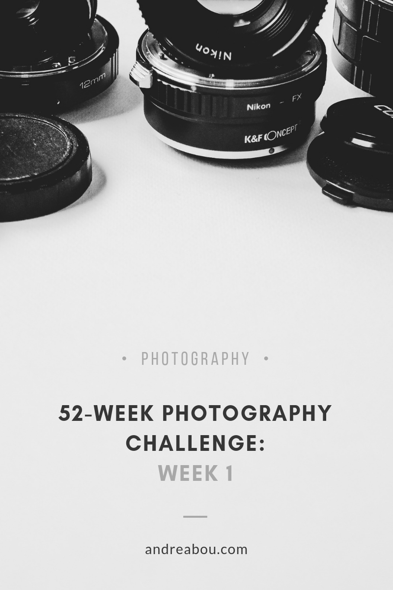 52-Week Photography Challenge: Week 1